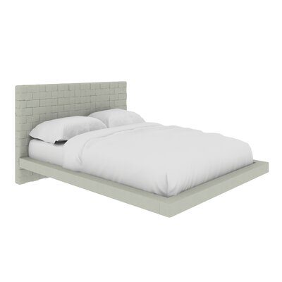 Zack Upholstered Platform Bed Size: Full, Finish: Light Gray
