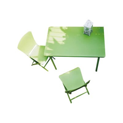 Zic Zac Classic 3 Piece Bistro Set Color: Lime Green