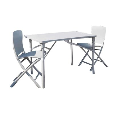 Zic Zac Classic 3 Piece Bistro Set Color: White