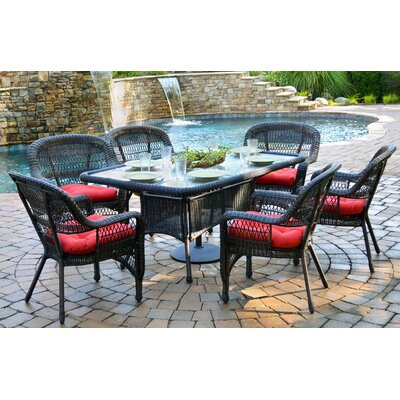 Tortuga Outdoor Portside 7 Piece Dining Set - Finish: Dark Roast, Fabric: Monti Pompeii at Sears.com