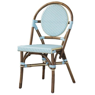 Cottage Paris Bistro Side Chair Color: Blue