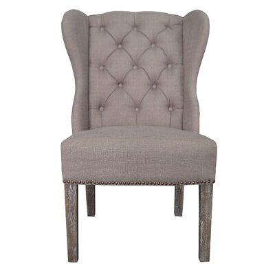 Naples Side Chair Upholstery: Oatmeal