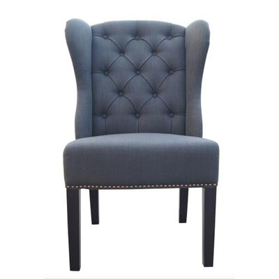 Naples Side Chair Upholstery: Charcoal