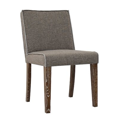 Ingham Upholstered Dining Chair Upholstery: Brown