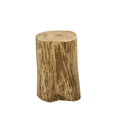 Lochhead Natural Tree Stump End Table Size: 17 H x 15 W x 15 D