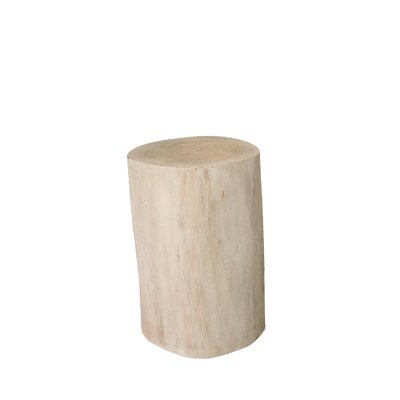 Kashiv Natural Tree Stump End Table Size: 19 H x 15 W x 15 D