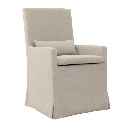 Hoang Arm Dining Upholstered Dining Chair Accessory: Without Caster