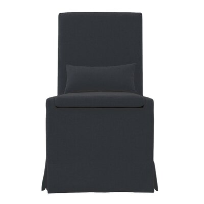 Hoang Dining Charcoal Gray Upholstered Dining Chair Accessory: With Caster