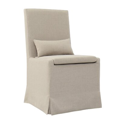 Hoang Dining Upholstered Dining Chair Accessory: With Caster