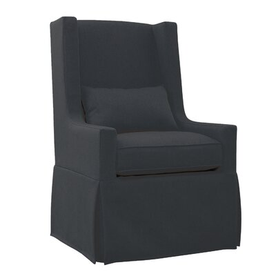 Hoang Swivel Lounge Charcoal Gray Armchair