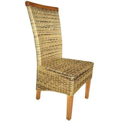 Abington Wicker Upholstered Dining Chair