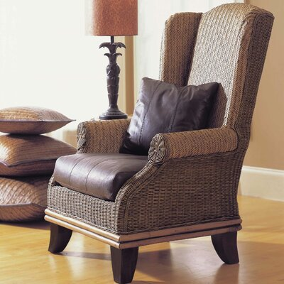 Bali Wing back Chair Color: White Fabric