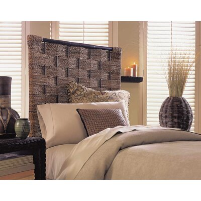 Lease to own Abaca Weave Panel Headboard Size: Q...