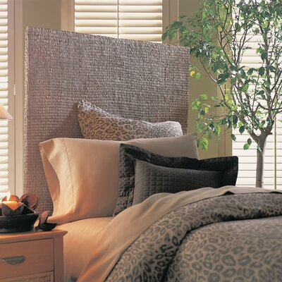 Grass Weave Panel Headboard Size: Queen