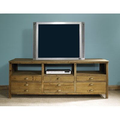 Image of Padmas Plantation Salvaged Wood TV Console (PDP1569)