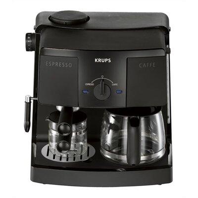 Coffee/espresso Combo Machine In Black