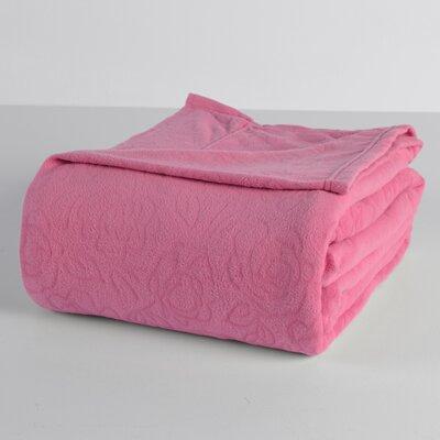 Embossed Roses Microfleece? Sheet Set Size: Queen, Color: Magenta