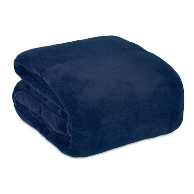 Serasoft Blanket Size: Queen, Color: Navy