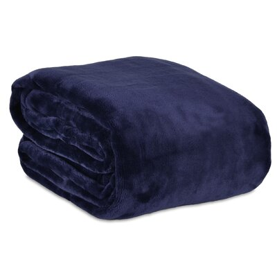 VelvetLoft� Blanket Size: Full/Queen, Color: Midnight Blue