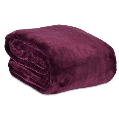 VelvetLoft Blanket Size: Full/Queen, Color: Eggplant