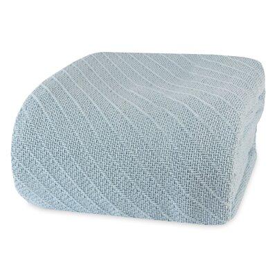 Ringspun Cotton Blanket Size: Full/Queen, Color: Coastal Blue