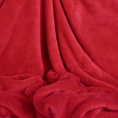 Shearloft Plush Throw Color: Red