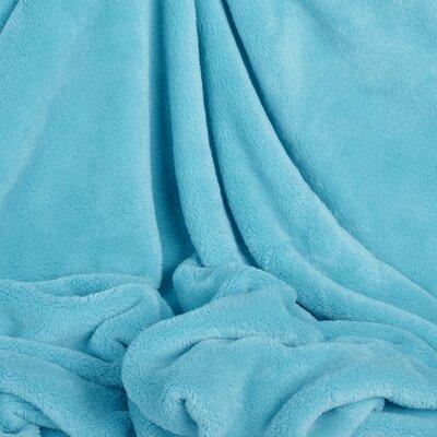 Shearloft Plush Throw Color: Waterfall Blue