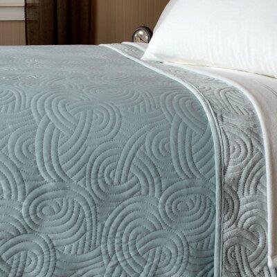 Loftmink Reversible Blanket Color: Silver Sky, Size: Oversized Twin