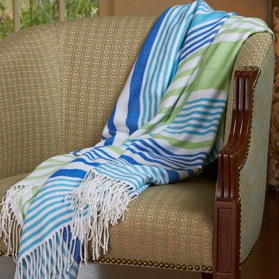 Woven Luxe Striped Throw