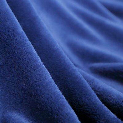Luxe Plush Throw Blanket Color: Blue