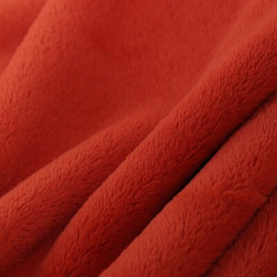 Luxe Plush Throw Blanket Color: Papaya Juice