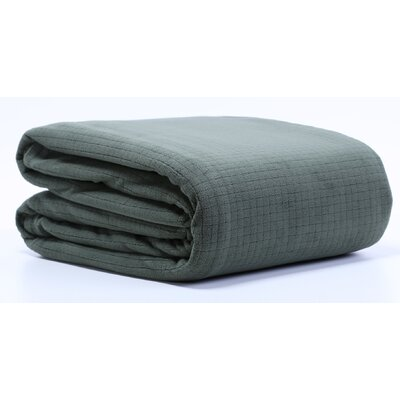 Polartec� Grid Fleece Throw Blanket Size: Twin, Color: Chive