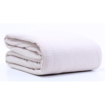 Polartec Grid Fleece Throw Blanket Size: Twin, Color: Hummus