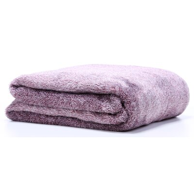 Polartec Heathered Shearling Fleece Throw Color: Purple Gumdrop