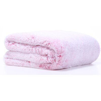 Frosted Tip Fluffy Throw Blanket Color: Raspberry Sorbet