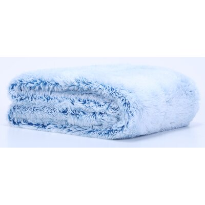 Frosted Tip Fluffy Baby Blanket Color: Deep Teal