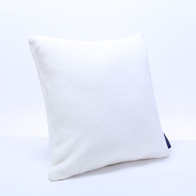 Plush Throw Pillow Color: Cream