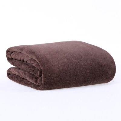 Classically Chic Throw Blanket Color: Chocolate