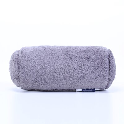 Extra-Fluffy Log Bolster Pillow Color: Smoke