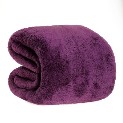 Fluffy Bed Blanket Size: Twin, Color: Eggplant