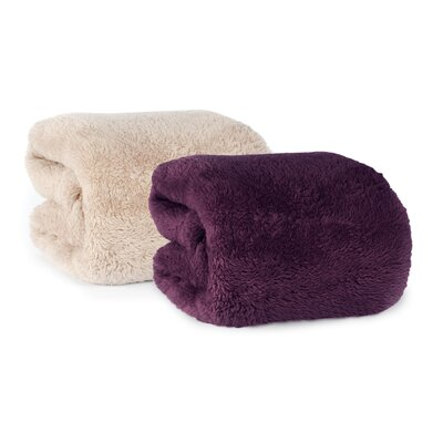 Extra-Fluffy Fabric Throw Color: Eggplant