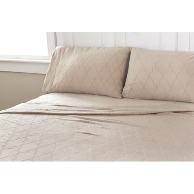 Etched Eastern Trellis Microfleece Sheet Set Size: Twin