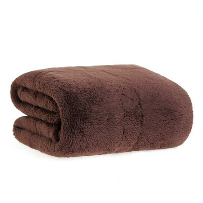 Extra-Fluffy� Throw Color: Chocolate