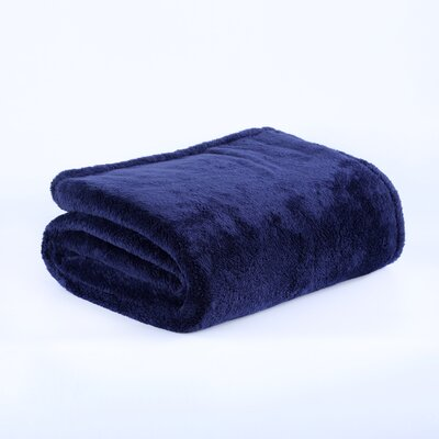 Fluffy Bed Blanket Size: Twin, Color: Atlantis
