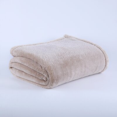 Fluffy Bed Blanket Size: Twin, Color: Oyster