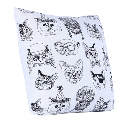 Brooklyn Cattitude Cotton Throw Pillow