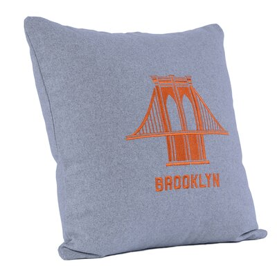Brooklyn Bridge Wool Throw Pillow