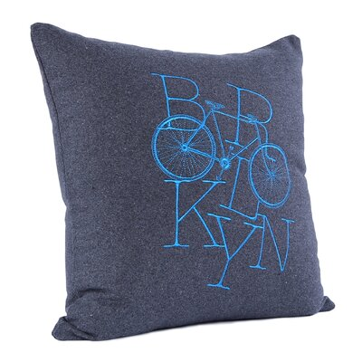 Brooklyn Bike Wool Throw Pillow