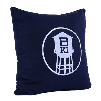 Brooklyn Water Tower Wool Throw Pillow