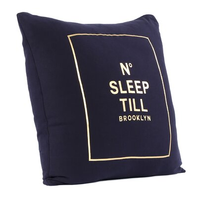 Brooklyn No Sleep Till Cotton Throw Pillow
